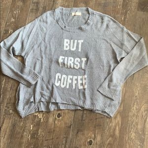 Graphic long sleeve knit